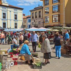 Grado, mercado dominical. Asturias