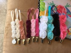 Paci Clips by SophiasShopp on Etsy