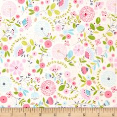 Designed by Tea and Sympathy for Studio E Fabrics. This fabric is perfect for quilting, apparel and home decor accents. Colors include pink, blue, green, cream, and red.