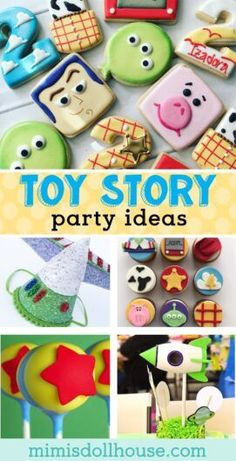 The Best Toy Story Birthday Party Ideas. Adorable Toy Story Party Decorations and Food Ideas! Are you looking for a crowd pleasing kid birthday theme? This post is full of alien cookies and buzz lightyear cupcakes and toy story party games and so much more... #toystory #toystory4 #toystoryparty #party #kids #birthday #cake #cookies #1stbirthday #partyideas #diy
