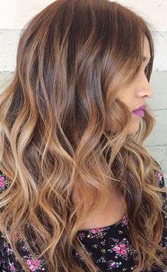 Long Brunette Highlight Hairstyles for Women