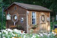 Garden Shed. Small garden shed to do all your garden chores and store your garden tools. Outdoor Sheds, Outdoor Spaces, Outdoor Gardens, Outdoor Living, Dream Garden, Home And Garden, Diy Garden, Cabana, Barns Sheds