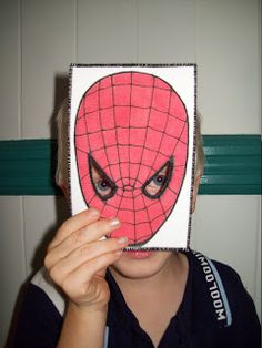 I signed up for two postcard swaps at the Dutch Fibermail group this month. The theme of the first one is Masks . With three little boys . Three Little, Little Boys, Spiderman, Quilts, Superhero, Handmade, Art, Spider Man, Art Background