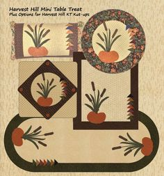 Harvest Hill Mini Table Treat & Options featuring KT Kut-ups precut fusible appliques