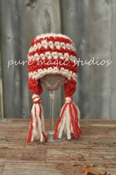 FREE SHIPPING Peppermint Candy Hat 03 Months door puremagicstudios