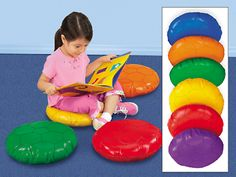 Soft Seats for floor seating - we could purchase blue seats to be used in the Preschool+ room and possibly the toddler room.  Easy to clean!