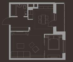 1 Zimmer Wohnung einrichten - Der Grundriss