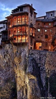 Casas Colgadas - Cuenca, Spain #travel #places #world