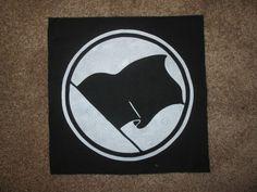 Anti Fascist Action Back Patch - Print Screen Print Punk Patch Stencil Art Hardcore. (8.00 GBP) by CyclopsJesusDesigns