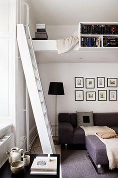 Tiny dreamy open plan loft