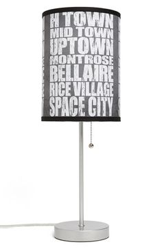 LAMP-IN-A-BOX 'Local Words - Houston' Print Lamp | Nordstrom