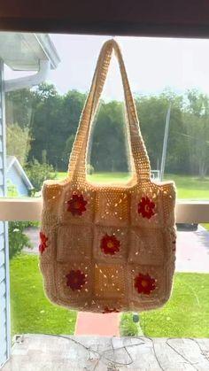 Crotchet Bags, Crochet Tote Bags, Diy Crochet Bag, Knit Crochet, Crochet Purses, Crochet Doll Tutorial, Beginner Crochet Tutorial, Crochet Gifts, Cute Crochet
