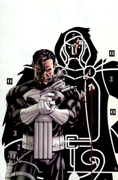 Punisher Cover: Punisher Marvel Comics Poster - 30 x 46 cm Marvel Comic Character, Comic Book Characters, Marvel Characters, Comic Books Art, Comic Art, Book Art, Comic Pics, Comic Villains, Punisher Marvel