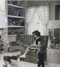 Shirley Temple in her doll house,1936.