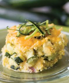Zucchini Casserole 4 cups unpeeled, chopped zucchini 1/4 cup chopped onion 1 small box cornbread mix (Jiffy) 1/2 teaspoon salt 1 egg 1 cup grated cheddar cheese, set aside ½ cup