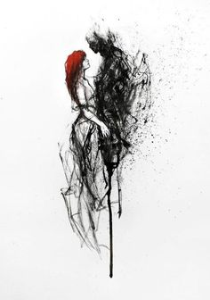 This makes me think of Persephone and Hades– either that or Tom Riddle Jr. and Ginny Weasley .This makes me think of Persephone and Hades– either that or Tom Riddle Jr. and Ginny Weasley Art And Illustration, Fantasy Kunst, Fantasy Art, Agnes Cecile, Creation Art, Hades And Persephone, Wow Art, Colorful Paintings, Dark Paintings