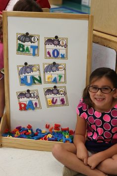 Batty CVC Words! October Word Work Centers are up and running! [FREEBIE included]