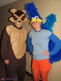 Wile E Coyote and Roadrunner - Homemade costumes for couples