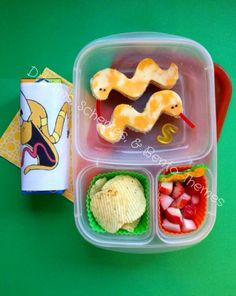 Lunch Hissssss Served Snake Bento by Dreams, Schemes, and Bento Themes