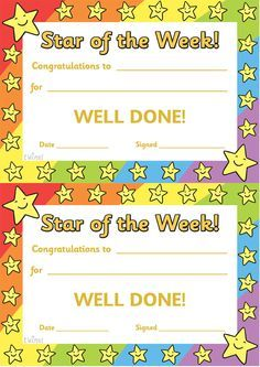 Twinkl Resources >> Star Of The Week >> Thousands Of pertaining to Star Of The Week Certificate Template - Business Plan Templates Certificate Layout, Certificate Of Achievement Template, Free Printable Certificates, Award Certificates, Certificate Templates, Behaviour Management, Classroom Management, Classroom Organization, Classroom Ideas