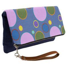 Dots Nice Clutch - blue gifts style giftidea diy cyo