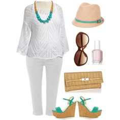 """Summer Whites - Plus Size"" #plus #size"