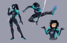 Resplendent Cartoon Drawing Tips Ideas Costume Super Hero, Hero Costumes, All Spiderman, Spiderman Kunst, Spider Girl, Spider Women, Deku Anime, Superhero Design, Spider Verse