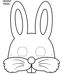 easter bunny mask template mask template bunny mask for kids - Happy Easter Sunday Bunny Templates, Templates Printable Free, Bunny Ears Template, Bunny Crafts, Easter Crafts For Kids, Easter Activities, Preschool Crafts, Printable Coloring Pages, Colouring Pages