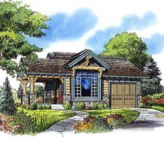 324 sq ft Weekend Mountain Escape with 301 sq ft garage, all on one floor -- great floor plan