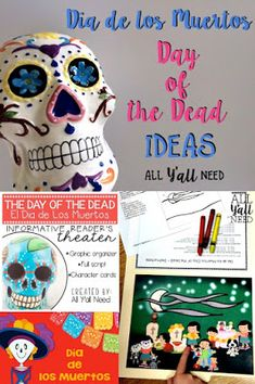 Dia de los Muertos (Day of the Dead) ideas. Halloween is on a Monday this year - eek! - and these activities will help you plan the rest of the week.