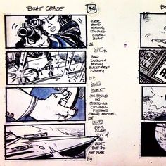 That's how you do it #storyboard #film #jamesbond #preproduction #museumoffilm #Padgram