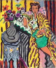 """Yellow Odalisque,"" 1937, Henri Matisse. Oil on canvas; 21¾ x 18⅛ in. (55.2 x 46 cm) Philadelphia Museum of Art."