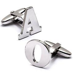 Alphabet Cufflinks by Beau-coup