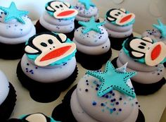 Paul Frank cupcakes theme. im making the cupcakes for my nieceypoos bday next month paul frank style...this may have to happen