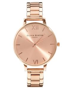 Olivia+Burton+Big+Dial+Rose+Gold+Bracelet+Watch. So in love with this watch!