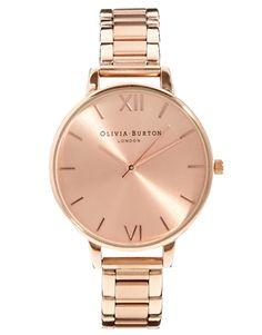 Vergrößern Olivia Burton – Armbanduhr in Roségold mit großem Zifferblatt