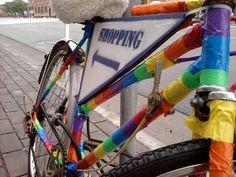 Wayfinding Art Bikes, St. Paul Irrigate project by Carrie Christensen. http://irrigatearts.org/site/4fc671e336353