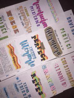Bullet Journal Inspo, Bullet Journal Banner, Bullet Journal School, Bullet Journal Ideas Pages, Hand Lettering Alphabet, Cool Lettering, Brush Lettering, Cute Notes, Pretty Notes