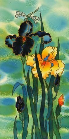 Two Irises by Yelena Sidorova