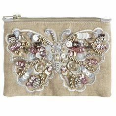 A beautiful gift for your brides' maids. Butterfly Beaded Coin Purse. Now purchase plain coin or wallet purses and attach your own themed or jeweled design. Tips from Destination Weddings.travel