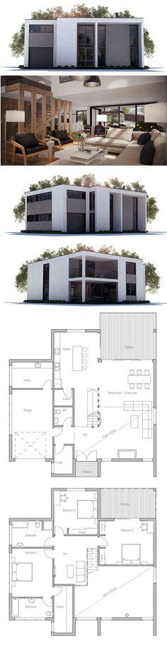 Modern Minimalist Home Plan, Modular Home Plan, Home Plan