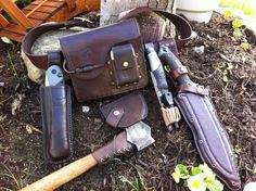 "Bushcraft belt Kit by ""The Crying Cow"" Leatherwork Facebook"