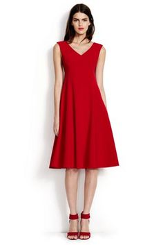 I need a new red dress, since mine has pretty much hit its expiration date -- Women's+Sleeveless+Dress+from+Lands'+End