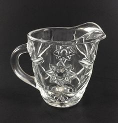 Anchor Hocking Prescut Clear Creamer Star Fan Design
