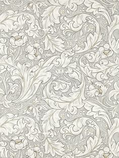 Morris Pure Bachelors Button Stone / Linen Wallpaper main image