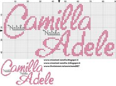 "Photo from album ""Schemi - Natalia/ Схемы - Natalia"" on Yandex. Crochet Stitches Patterns, Stitch Patterns, Alfabeto Disney, Cross Stitch Letters, Donia, Hama Beads, Pattern Art, Camilla, Adele"