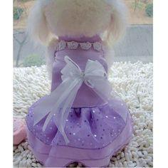 Brilhante roxo vestido o vestido de princesa roupas pet alishoppbrasil