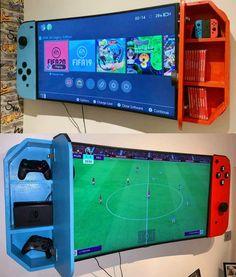 Carte Pokemon Rare, Nintendo Room, Video Game Rooms, Game Room Design, Gamer Room, Room Setup, Gaming Setup, Super Smash Bros, My Room