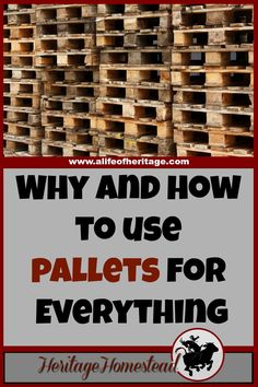 Pallets   How to use pallets   Building with Pallets   Two reasons why pallets are awesome. And how to use pallets in your home and on your homestead right away. Great ideas to keep you going!