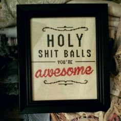 Hey, I found this really awesome Etsy listing at https://www.etsy.com/listing/226886677/inappropriate-cross-stitch-holy-shit